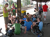 Late afternoon at the train station in Thun, about to head back though Bern to Langenthal. There might be some sore legs in this photo from 800m of climbing and 1600m of descending!