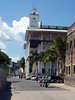 "The largest building on Zanzibar is a Palace-turned-National Museum. It's called Beit el-Ajaib, also known as ""The House of Wonders"", and was built in 1883 by Sultan Barghash. Here's a <a href=""http://nhoover.smugmug.com/Unicycling/Foreign-Trips/Zanzibar-2009/9559058_W3A2D#644782399_8fQ75"">panorma view</a> from the corner of the balcony. 2009-07-07 12:33:33 by Nathan Hoover"