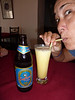 A new twist on an old drink: Grace is LOVING her Passion Lassi! This is at our favorite restaurant in Stone Town where we ate lunch about four times. 2009-07-07 11:44:01 by Nathan Hoover