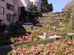 Geoff riding out the bottom of Lombard Street