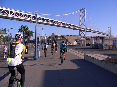 Gary Kanuch in the foreground, Bay Bridge in the background.
