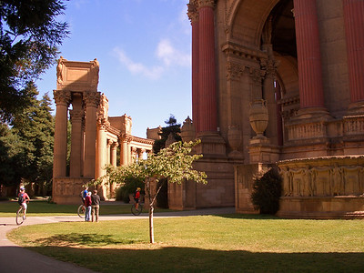 Cokers enter the Palace of Fine Arts