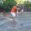 Stand-up wheel walk. 13 seconds.