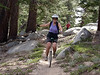 Megumi cruising the trail