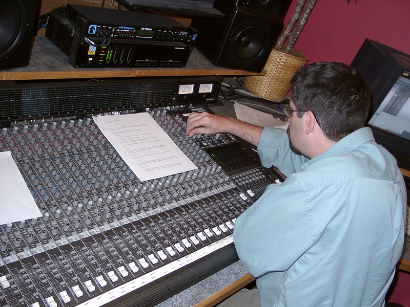June 14, 2002: In the studio, recording narrations for Into The Thunder Dragon