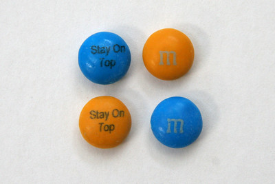 """Stay On Top"" - Custom M&Ms I got for Christmas in 2006!"