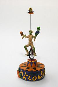 Halloween unicycling mummy, rotating music box from Hallmark