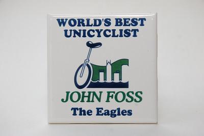 Custom piece of ceramic tile from the Hong Kong Eagles and Steve Dressler, 1998