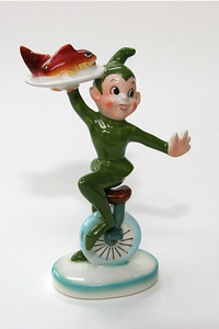 Pixie Kitchen unicyclist, from an old restaurant along the Oregon coast (bought on eBay, like many of the others)