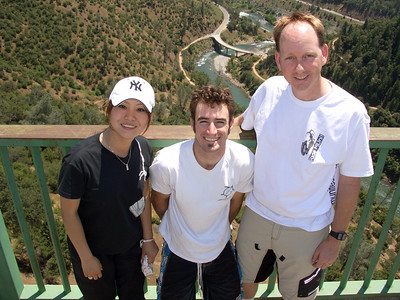 Kaori, Corbin and John on the Foresthill Bridge