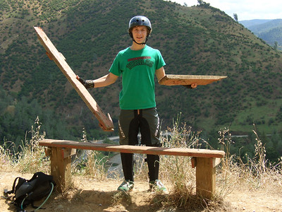 Lloyd helped repair the bench to the limit possible (it has since been replaced with new wood)
