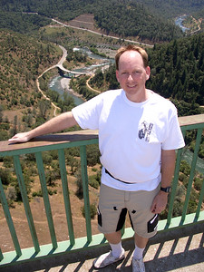 John Foss on the Foresthill Bridge, overlooking the birthplace of MUni Weekends