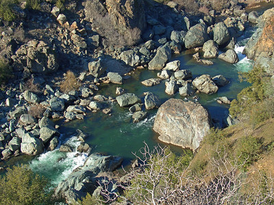 American River rocks, as seen from the Quarry Trail, Auburn
