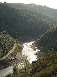 Looking down the American River Middle Fork from the Confluence Trail