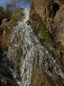 Seasonal waterfall along the Confluence Trail