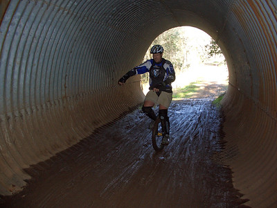 Robert Allen in the Culvert (Culvert Trail)