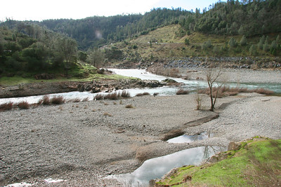 American River Confluence (North & Middle), as seen from where the cars park