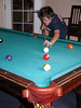 Relaxing on Sunday morning playing some 9-ball