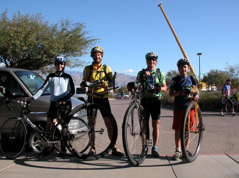 Our team of 4 for the 66 mile race