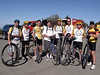 Most of the unicyclists - Bruce, Scot, Keelan, Tom, Nathan, Gary, Bronson, Glen - missing the guy with clip-in pedals!