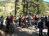 The riders gather at the start of the Friday ride: Tahoe Rim Trail. We're close to 9000' in elevation here, just inside Nevada, and the weather is ... COLD.