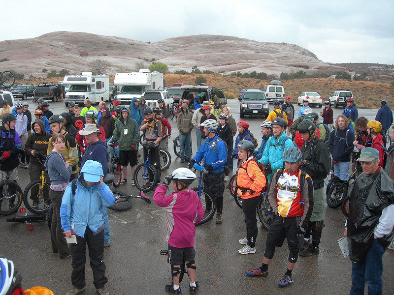 No one wanted a rain postponement - let's ride!
