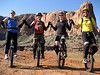 [Andy Cotter photo] MUT Organizers Connie, Andy, Irene and Nathan before the Pritchett Canyon ride on Sunday
