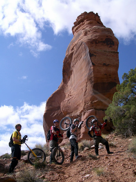 [Irene Genelin photo] Heading up to Pritchett Arch