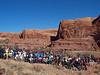"""Saturday morning: Group shot at the start of the <a href=""""http://www.bikerag.com/images/MAPS/ut-amasa_back_review.htm"""">Amasa Back trail.</a> LOTS of riders!"""