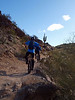 Chris and Tom headed for a scenic saguaro cactus