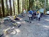 Friday, Sept 3 - day 0 of the weekend rides - at Mt Fromme, the mecca of all offroad unicycling, the famous North Shore of Vancouver!