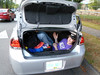 We have 6 for a car that only has 5 seats. No problem, Jason fits in the trunk easily.