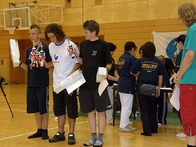 Trials world champions: Zack Baldwin, Yoggi (Benjamin Guiraud?), David Weichenberger.