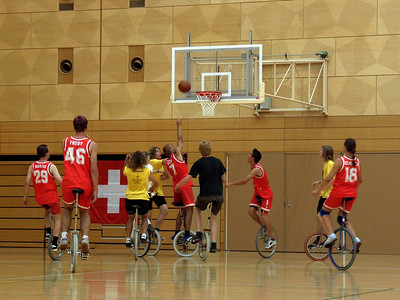 Basketball bronze medal game: Switzerland and Germany.