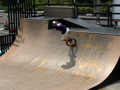Jack Hughes on half pipe.