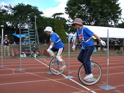 I thought 66+ was a ridiculous age to start an age group, especially based on the tiny number of entries. That was until I saw these two, Michiko Morikawa and Tokiyo Haseyama. We should all strive to be like them.