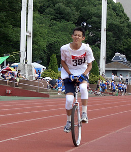 "Hiroki Shigeno, one of the most amazing athletes I've ever seen on a 24"" wheel. He was incredibly fast in the 10k!"