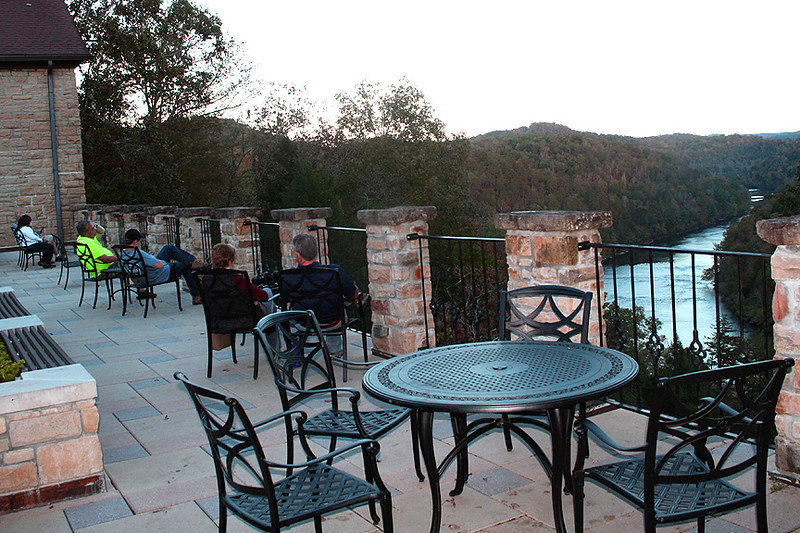 Spectacular view of Cumberland River from the lodge