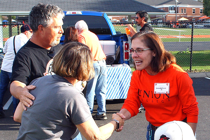 It was so nice seeing JoAnne at the tailgate party.