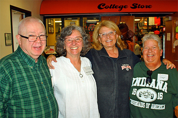 Steve, Donna and Nancy with the college president