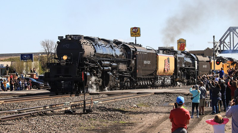 Major crowds greeted the engine all along the way, but especially in the beginning at Cheyenne.