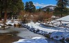 Sprague Lake several days after a heavy snowfall. Rocky Mtn. Nat'l Park.