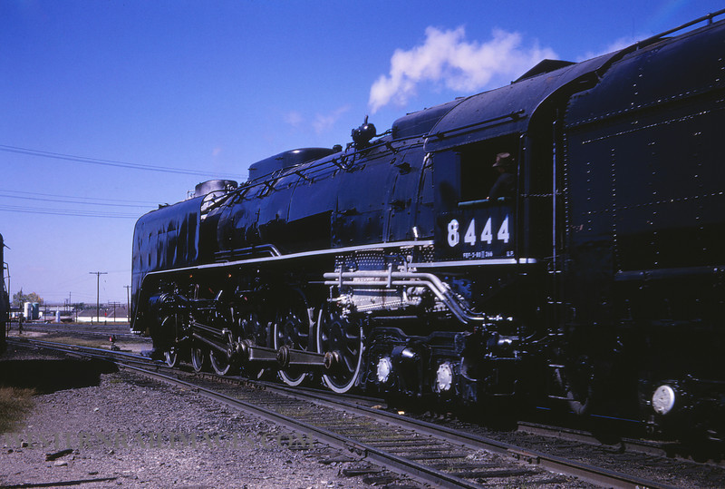 UP 374 - Sep 25 1966 - no 8444 4-8-4 @ Cheyenne WY - by Jim Ozment