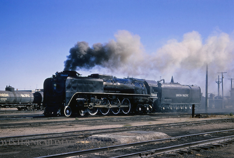 UP 337 - Sep 13 1964 - loco 8444 4-8-4 @ Cheyenne WY - by Jim Ozment