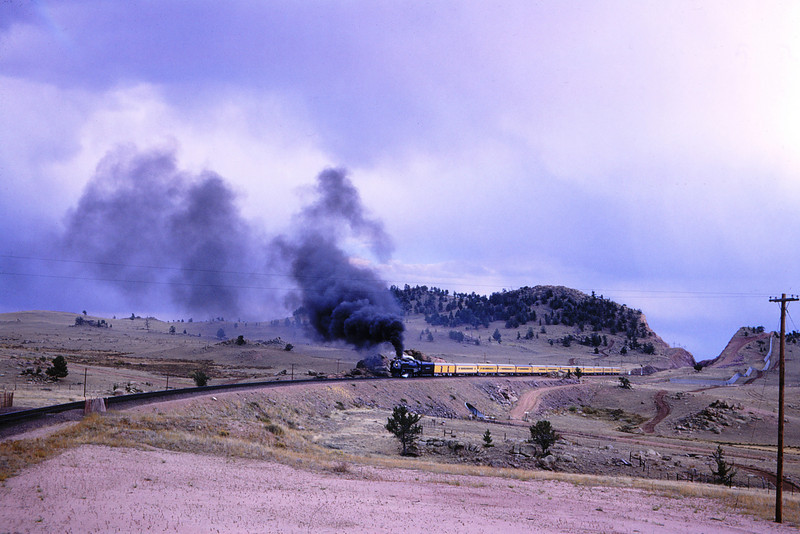 UPRR 381 - Sep 25 1966 - 4 8 4 no 8444 near Dale Creek WY