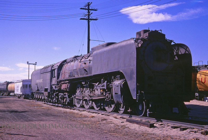 UP 389 - Mar 10 1967 - no 832 4-8-4 @ Cheyenne WY - by Jim Ozment