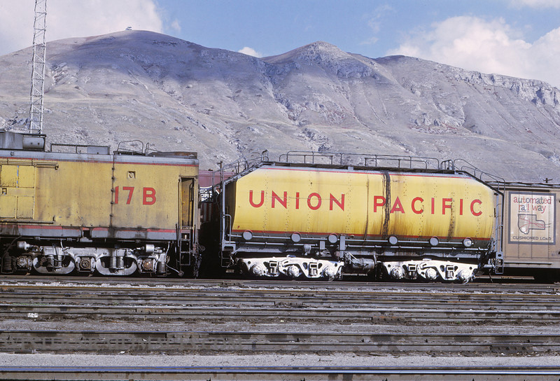 UP 503 - Nov 1 1969 - turbine unit 17B & fuel tender @ Salt Lake City UT by Jim Ozment