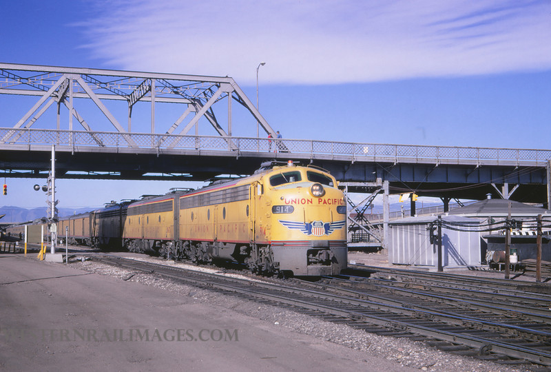 UP 410 - June 3 1967 - loco 914 with E Units in Union Station Denver CO - by Jim Ozment