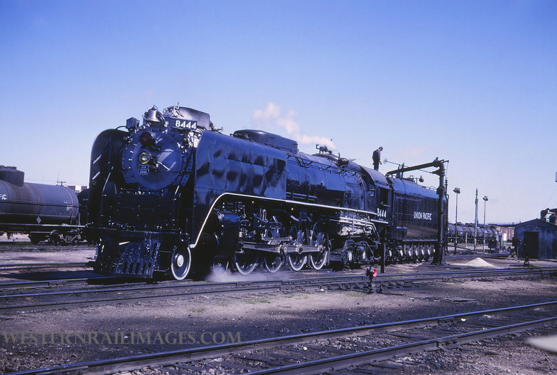 UP 372 - Sep 25 1966 - no 8444 @ Cheyenne WY - by Jim Ozment