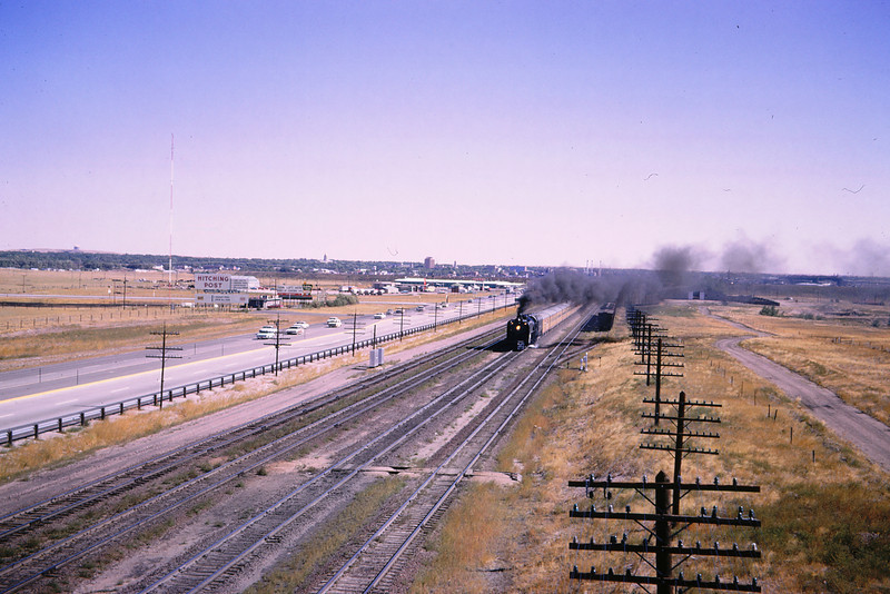 UPRR 343 - Sep 13 1964 - 4 8 4 8444 west of Cheyenne WY
